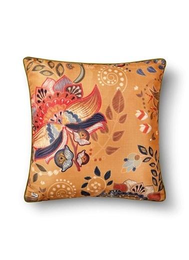 The Mia Fantasy Flower Yastık A - Hardal 50 x 50cm Hardal